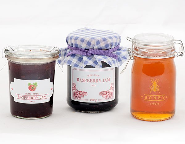 Honey and Jam Product Labels