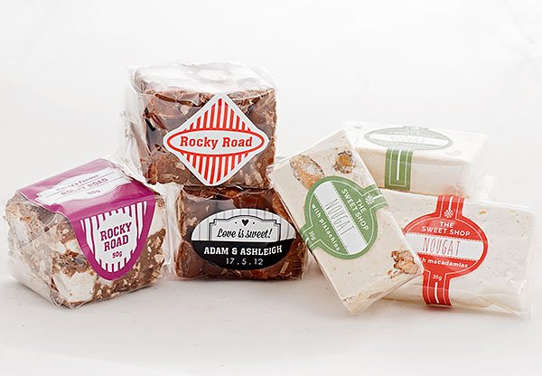 Nougat and Rocky Road Sweets labels